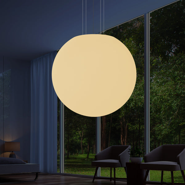 Extra Large 125cm 1.25m Orb Pendant Ceiling Light, Hanging Ball Globe Lamp, E27 Warm White