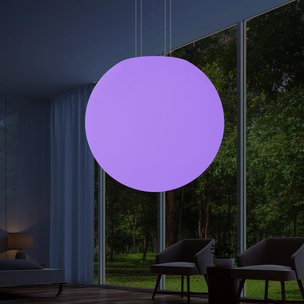 Sphere LED Hanging Lamp, Large 1 Metre RGB Orb Suspension Light, 1000 mm, Mood Lighting