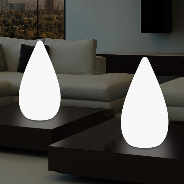 37cm LED Decorative Table Lamp, Water Drop E27 Floor Light for Living Room, White