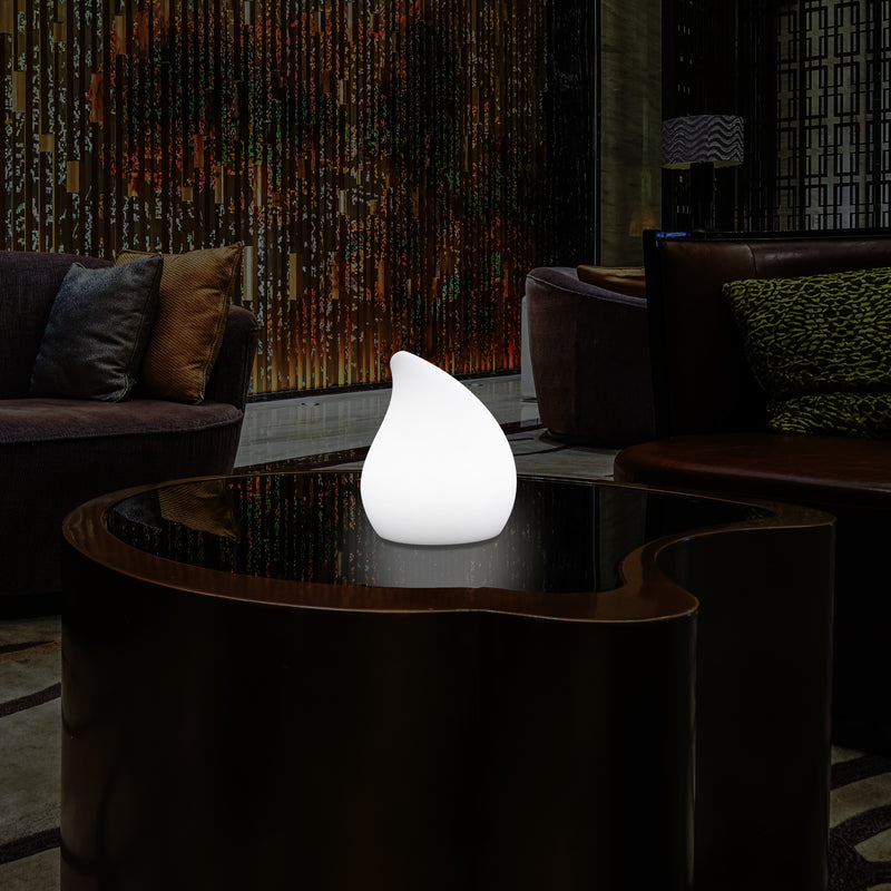 Dimmable Decorative LED Table Lamp, Colour Changing Drop Light with Remote, 20cm