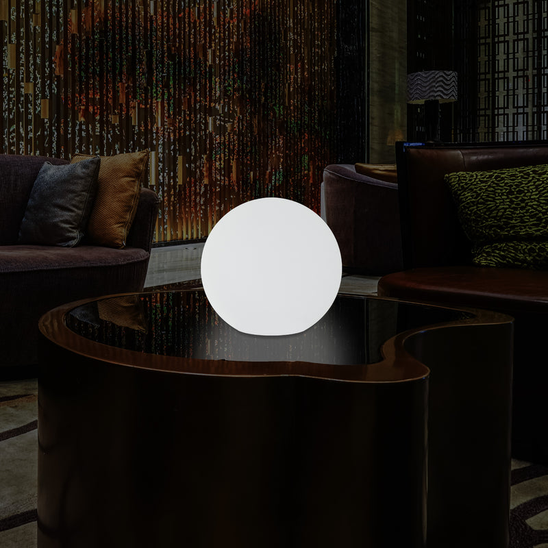 Globe Orb Bedside Lamp Night Light, Battery Powered, Colour Changing, 20cm Sphere