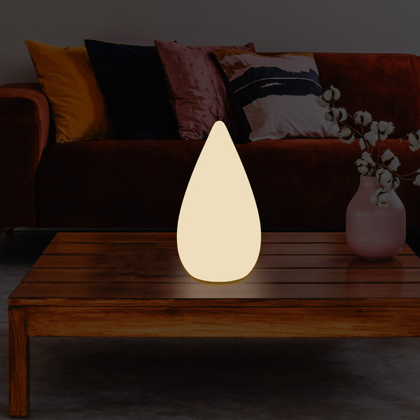 37cm Designer LED Floor Lamp, E27 Water Drop Table Light for Bedroom, Warm White
