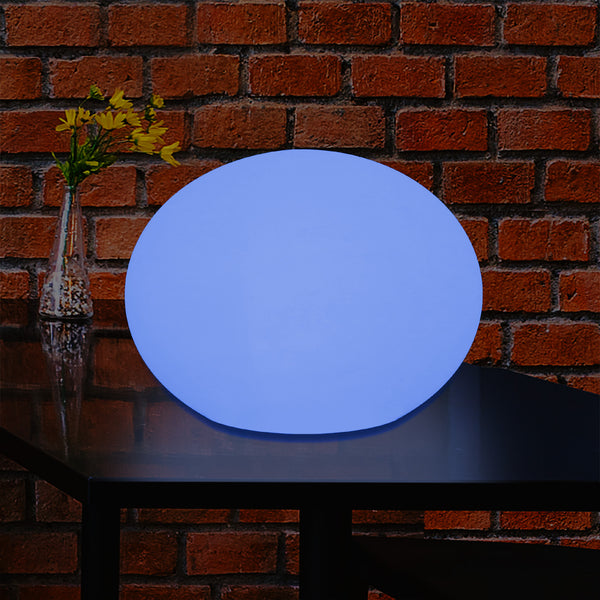 Designer LED RGB Table Lamp, Unique Colour Changing 3D Oval Ellipse Mood Light