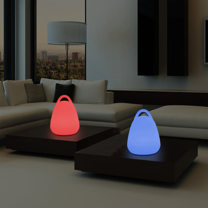 Dimmable Multi Colour LED Lantern Table Lamp, RGB Mood Lighting with Remote Control