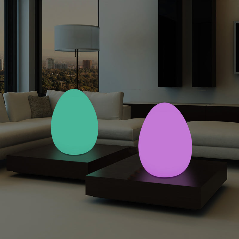 Dimmable Multi Colour RGB LED Table Lamp, 37cm Mood Light with Remote, Mains Powered