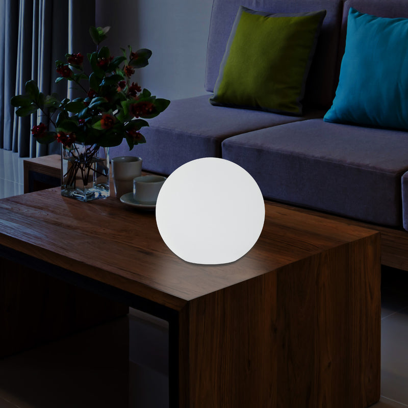 LED Sphere Ball Night Light, Colour Changing Table Bedside Lamp, Battery Powered, 15cm