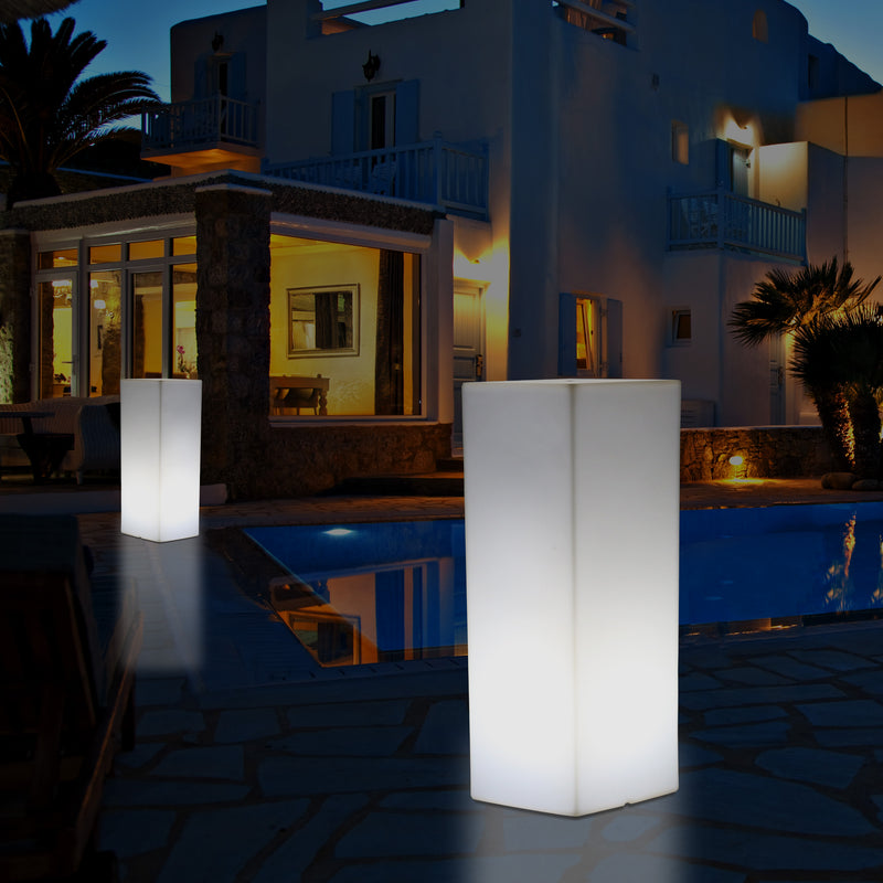 Outdoor Garden LED Plinth Pillar Column Floor Lamp, Mains Powered 5V Bollard, 110 x 30cm