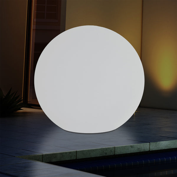 Mains Powered Outdoor Garden Sphere Light, 50cm Multi Colour Globe Orb RGB Floor Lamp