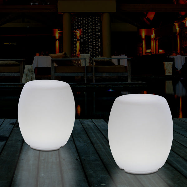 External Garden Colour Changing LED Stool Seat Light, Mains Powered Patio Floor Lamp