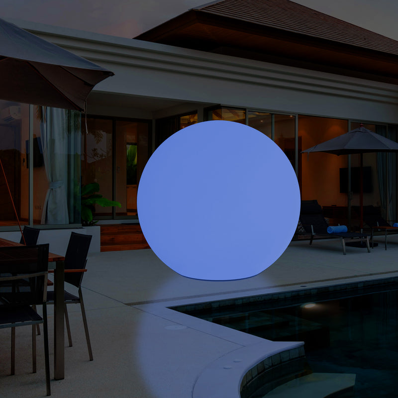 100cm LED Sphere Light, Large Cordless RGB Ball Floor Lamp, 1000 mm 1 Metre Diameter