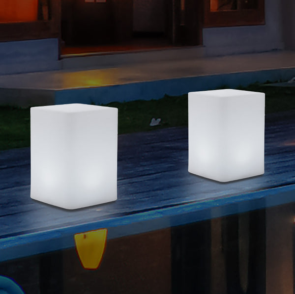 Multi Colour LED Table Centre Light, Wireless Bedside Night Lamp, 20cm, Remote Controlled
