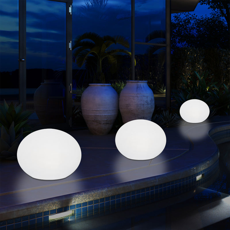 Outdoor Mains Operated Decorative Oval Ellipse Light for Garden, Patio, Terrace, Balcony