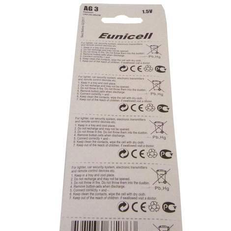 pack of 10 AG3 battery long lasting power