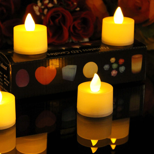 12 Amber LED Tealights