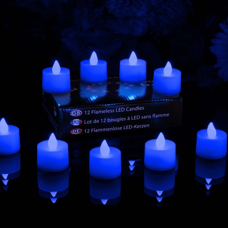 blue flicker flame electric candles