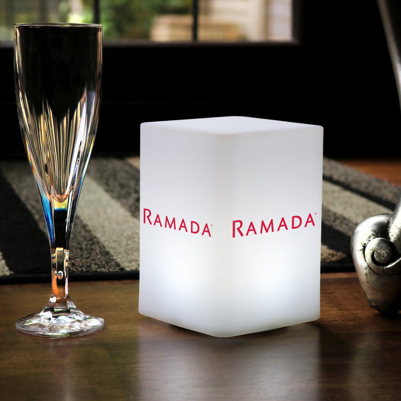 Custom Branded LED Table Centre Light, Personalised Backlit Light Box Lamp with Logo