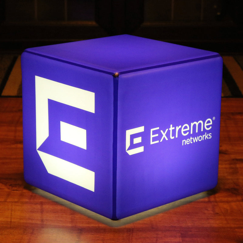Customised Branded Light Box Stool Seat Table, Free Standing Illuminated RGB Display Sign
