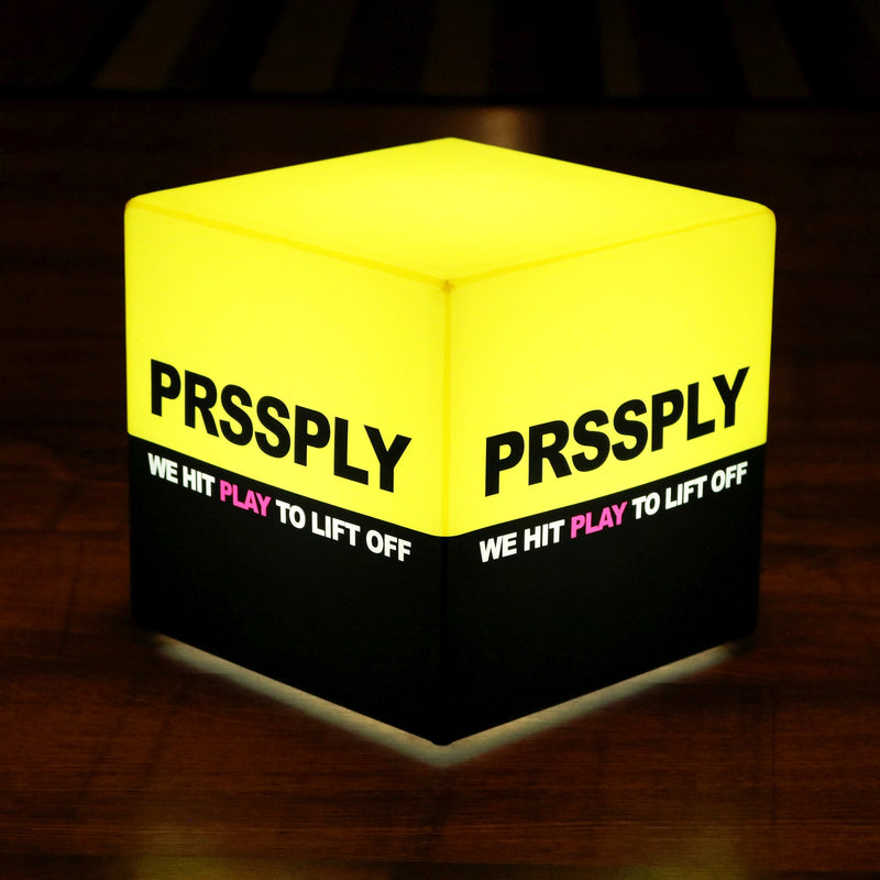 Personalised Free Standing Light Box Sign with Logo, Illuminated Display Signage Cube