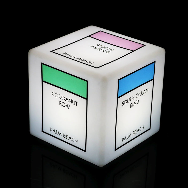 Personalised Branded Backlit Sign Light Box, Multi Colour Table Lamp Remote, Cube 20cm