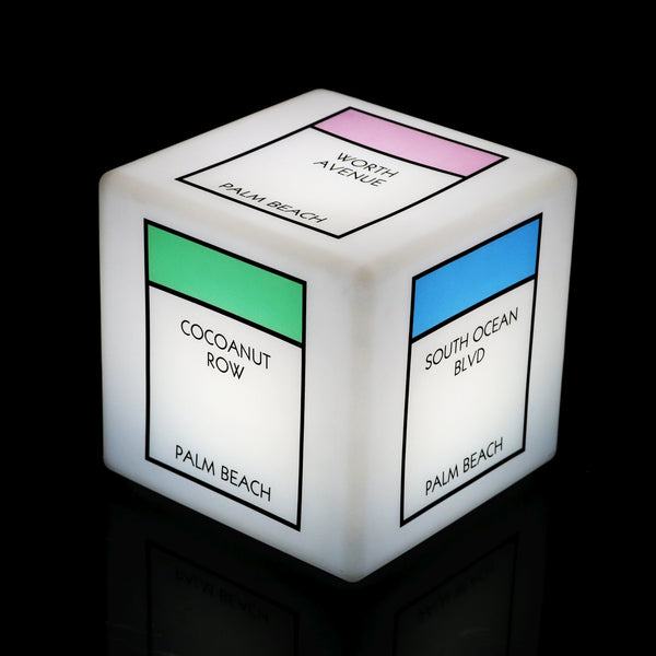 Personalised Promotional LED Cube Seat Stool, Large 60cm Light Box Display, Back Lit Signage