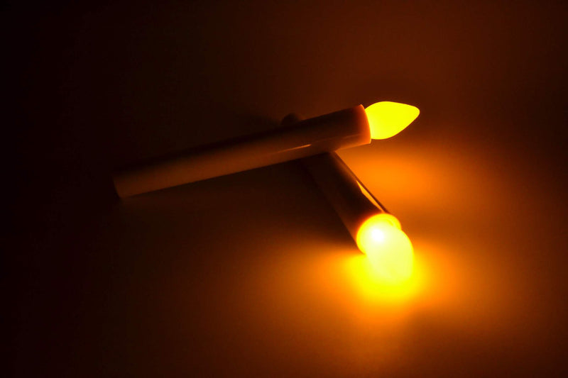 battery taper candles