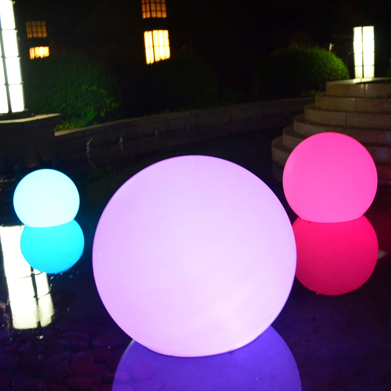 led floating waterproof xmas ball mood light