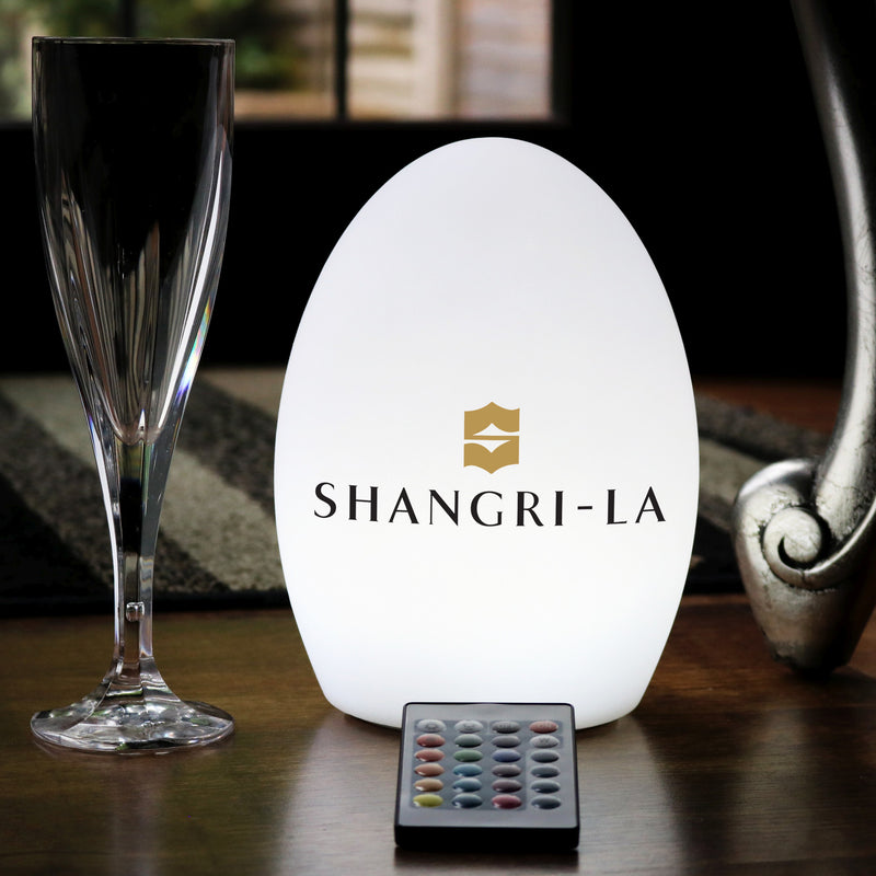 Personalised Table Centre Lamp, Custom Branded Wireless LED Sign Light Box with Logo