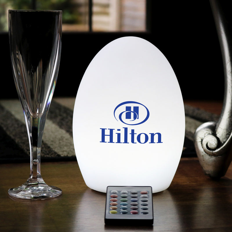 Personalised Battery Multicolour LED Table Centre Display Lamp, Custom Branded with Logo