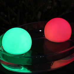 colour changing waterproof sphere lights