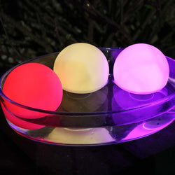 set of 3 led night light floating orb ball mood lights
