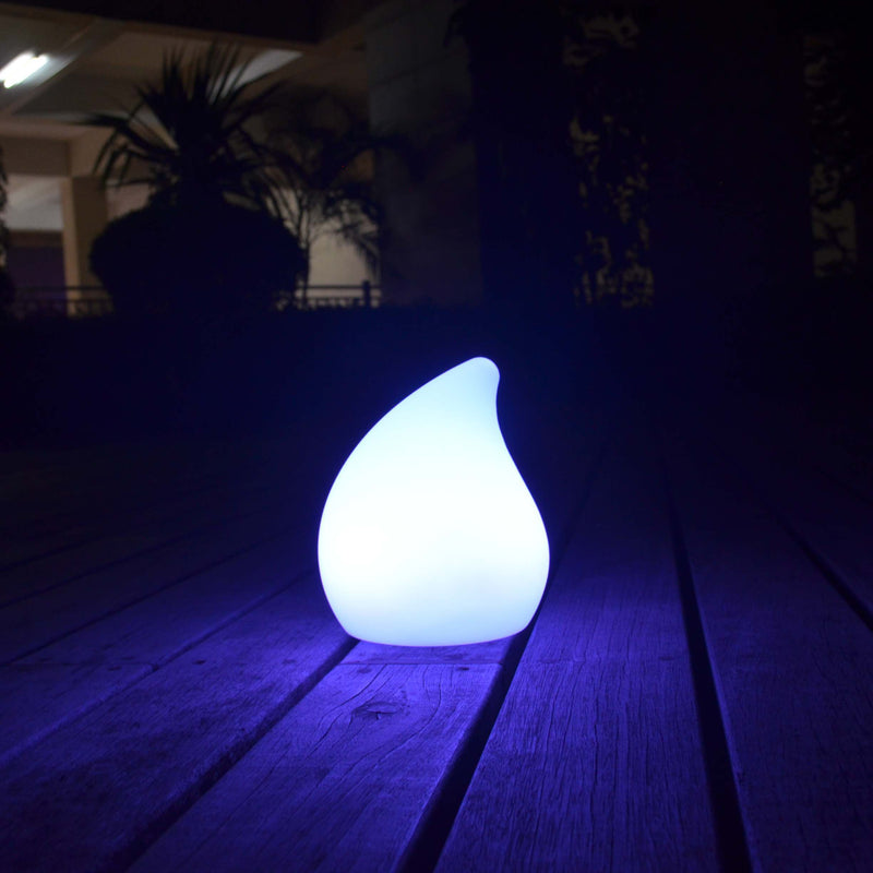 ultra white pear shaped led mood lamp