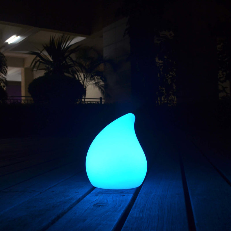 led teardrop blue mood lamp