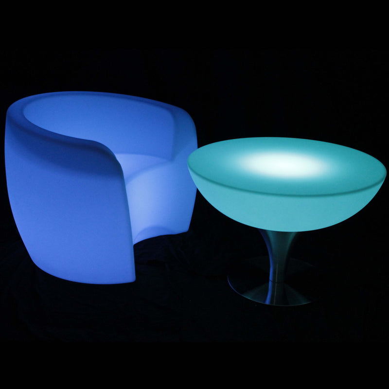 Gradual colour changing LED table