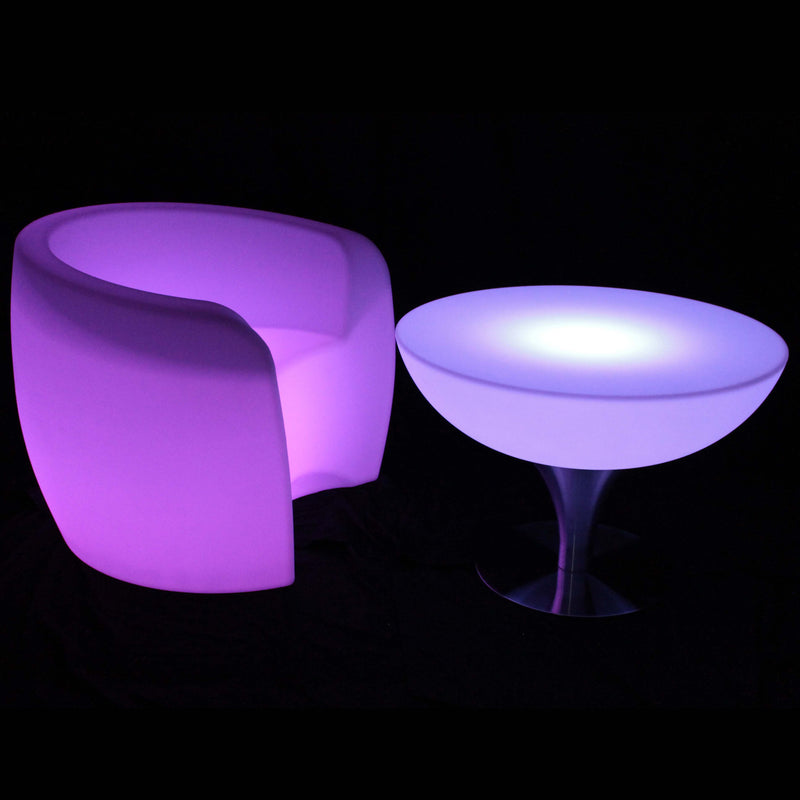 Bright LED circular table