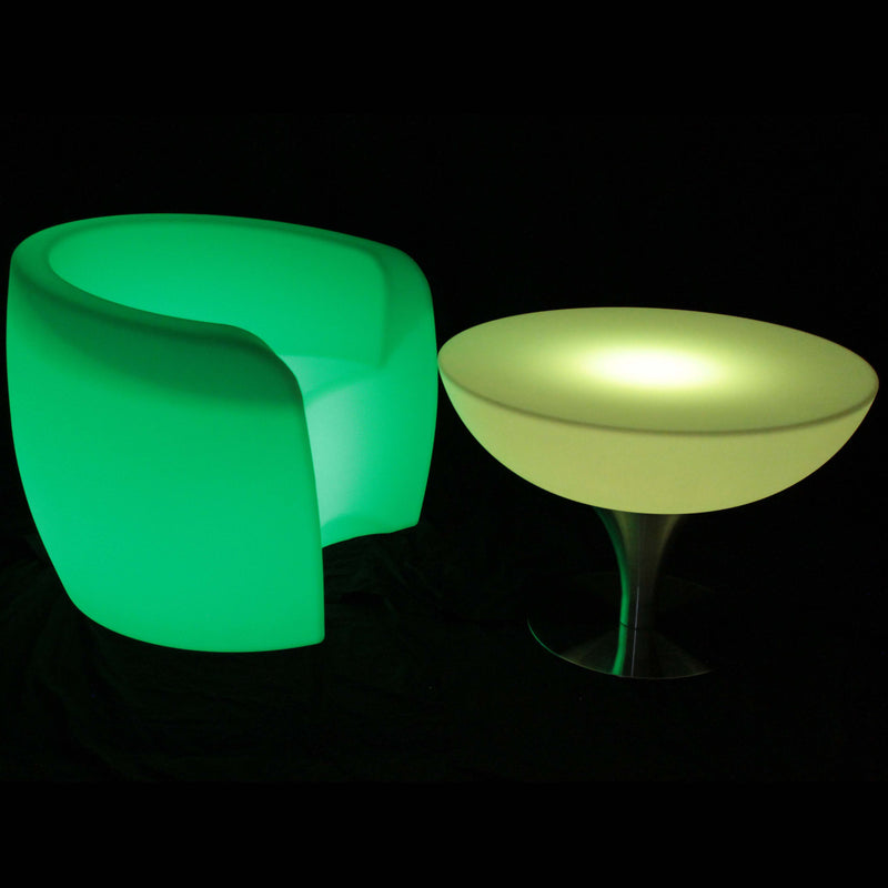 LED glow table furniture
