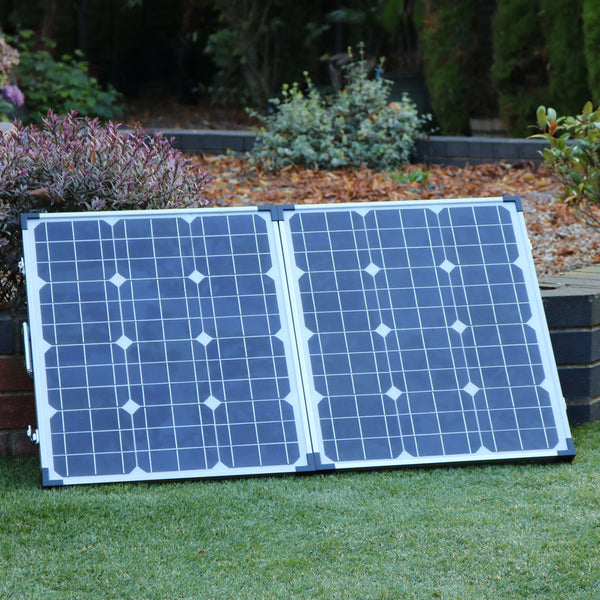 80W Folding Solar Panel Charging Kit  Refurbished for 12V Battery