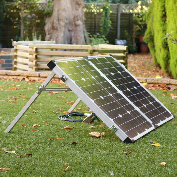 80W Folding Solar Panel Charging Kit for 12V Battery, Camping, Car