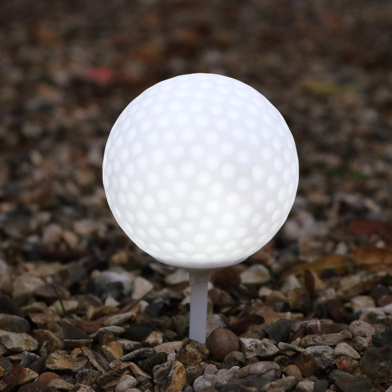 golf ball garden path lights