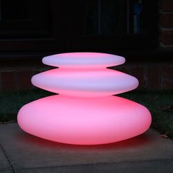 garden led pebble stack outdoor lamp decor colour changing