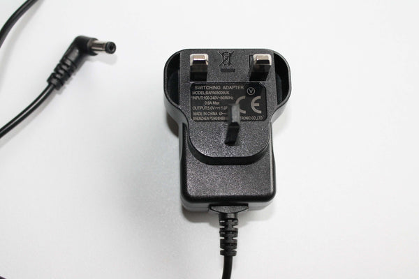 Black Mains Charging Adaptor for Mood Lights