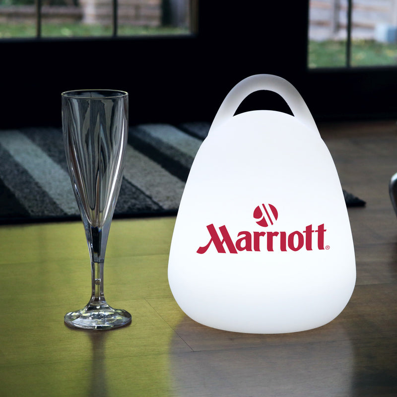 Personalised LED Lantern Lamp with Logo, Promotional Wireless Backlit Table Light Box