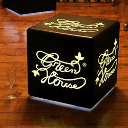Logo Promotional Backlit Display Light Box, Customised Cordless LED Table Lamp, Cube