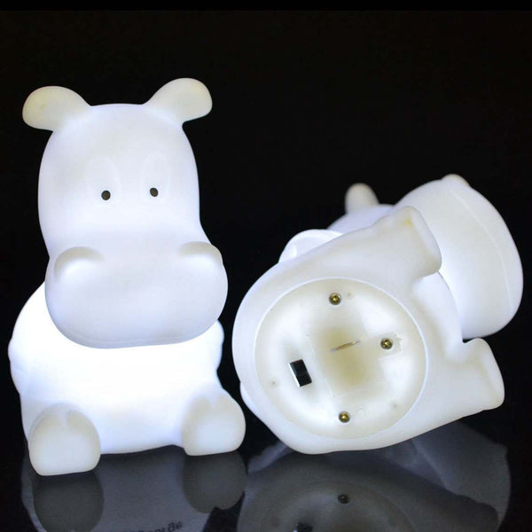 battery base and white glowing led hippo