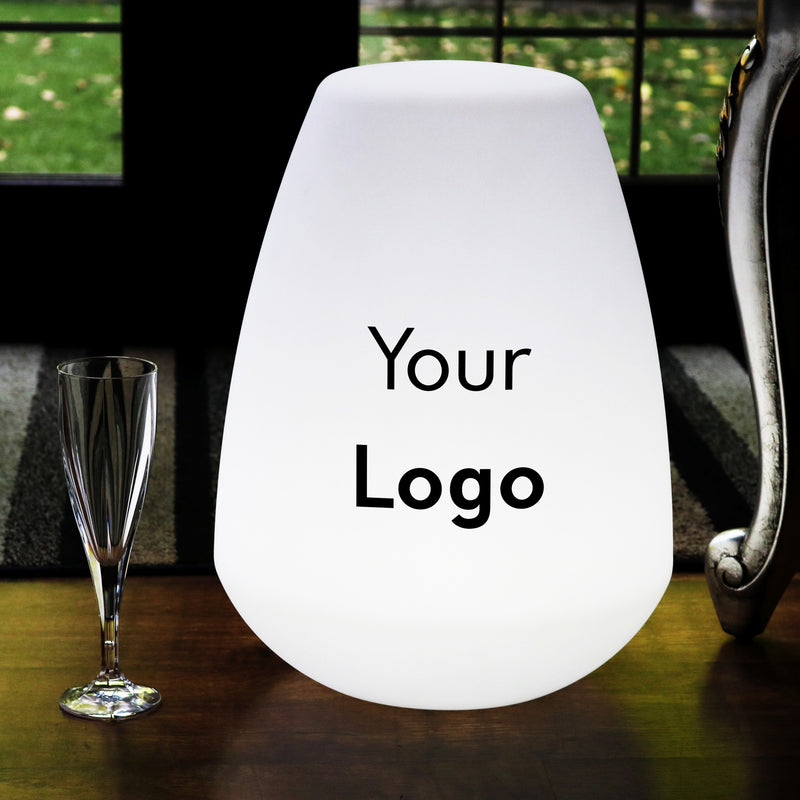 Custom Unique Multicolour LED Lamp, Personalised Logo Lightbox, Wireless Floor Lamp