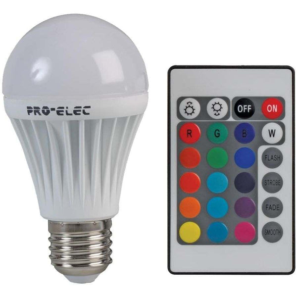 colour changing bulb light with remote