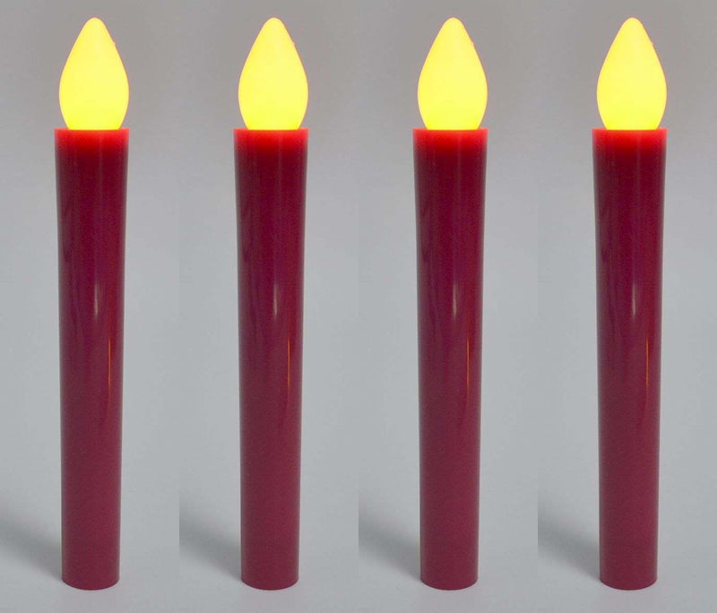 set of 4 church led candles