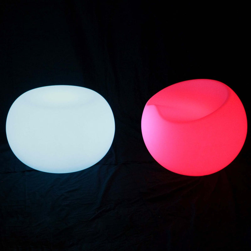 Coffee table with LED apple chair