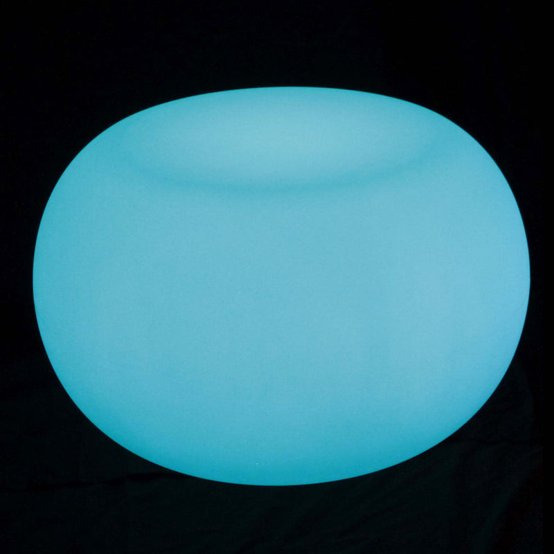 Bright blue LED coffee table