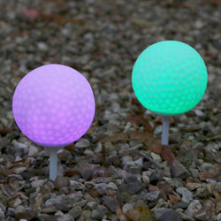 colour changing LED garden path lights