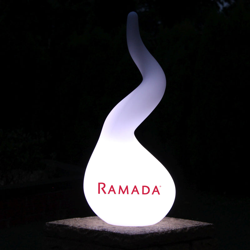 Personalised Spiral Floor Lamp, Rechargeable Custom Branded LED Display Light with Logo
